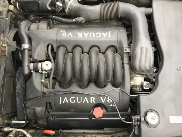 Moderately clean engine bay.