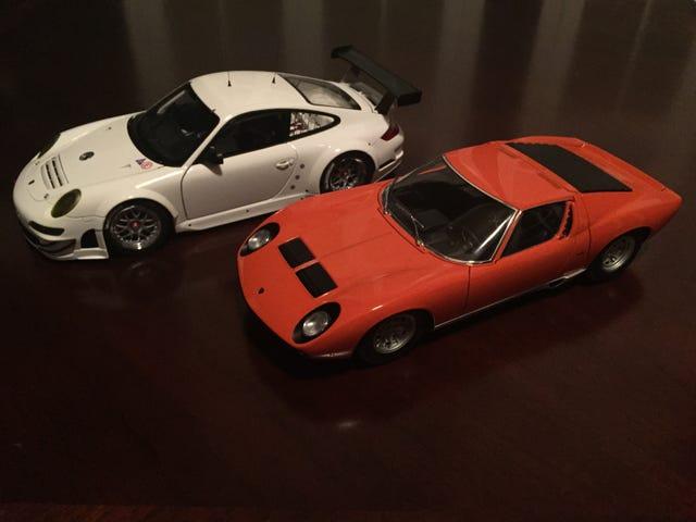 AutoArt 1/18 Miura SV and 911 GT3 RSR