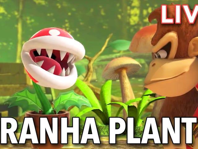 Estamos transmitiendo la última incorporación de Smash Ultimate, Piranha Plant, en nuestro canal de Twitch al mediodía, hora del este.  Entra y come tu ...