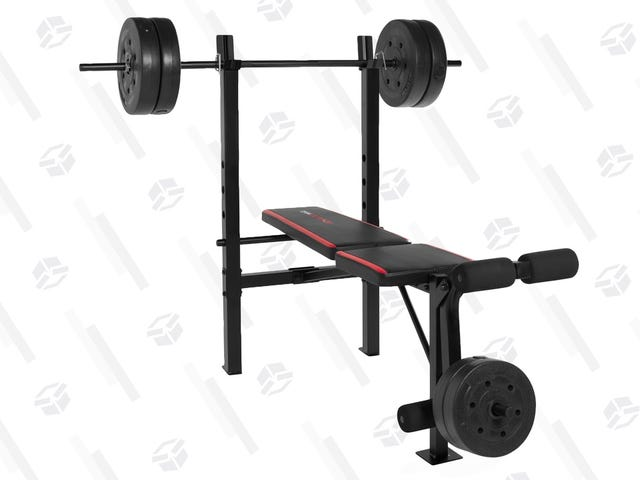This $79 CAP Weight Bench Includes 100 Pounds of Weights and, Somehow, Free Shipping