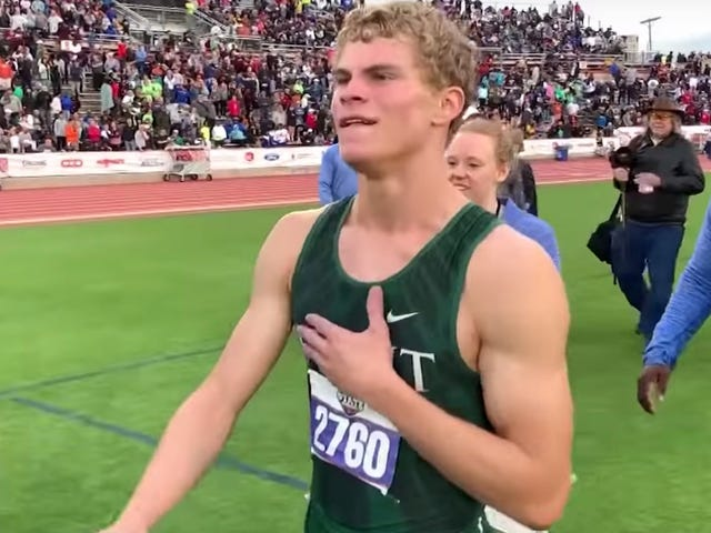 Matthew Boling's 100-Meter National Record Wasn't Even His Most Stunning Performance