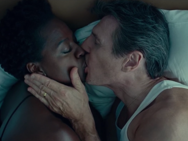 Michelle Rodriguez Says Liam Neeson Can't Be Racist Because He Passionately Frenched Viola Davis in Widows