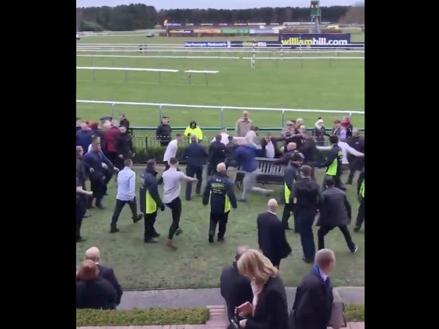 Angry Horse Racing Attendees Turn English Racecourse Into Merseyside Mosh Pit