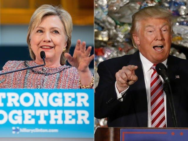 Happy Hump Day: Опитування показує, що Клінтон і Trump по суті пов'язані