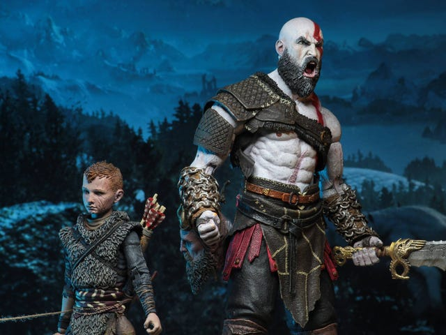 A God Of War (And Boy) For Your Desk