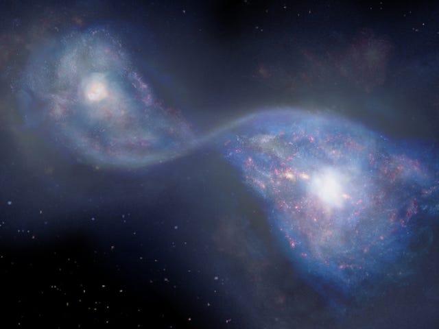 Các nhà thiên văn học đã quay lại 13 tỷ năm và nhìn thấy hai thiên hà va chạm