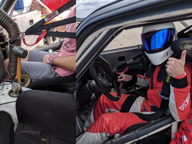 Spec BMW E30 Racer zastępuje uszkodzony Shifter gumowym młotkiem, wygrywa