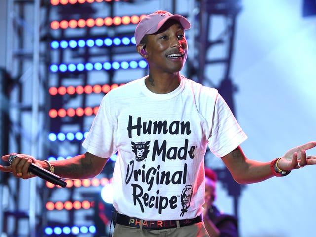 Klap dine hænder: Pharrell Williams gør 114 grader af Harlem High School 'Happy' med garanterede praktikophold