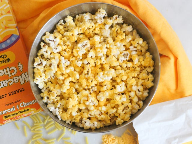 Season Popcorn With Macaroni and Cheese Powder