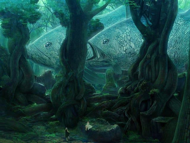 Concept Art Writing Prompt: Fisk blandt træerne