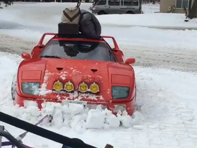 The Ferrari F40 Is Not Stopped By Your Pitiful Snow
