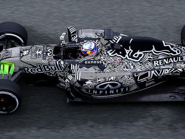 Red Bull의 2015 F1 자동차는 얼마나 빡빡하게 포장되어 있습니까?