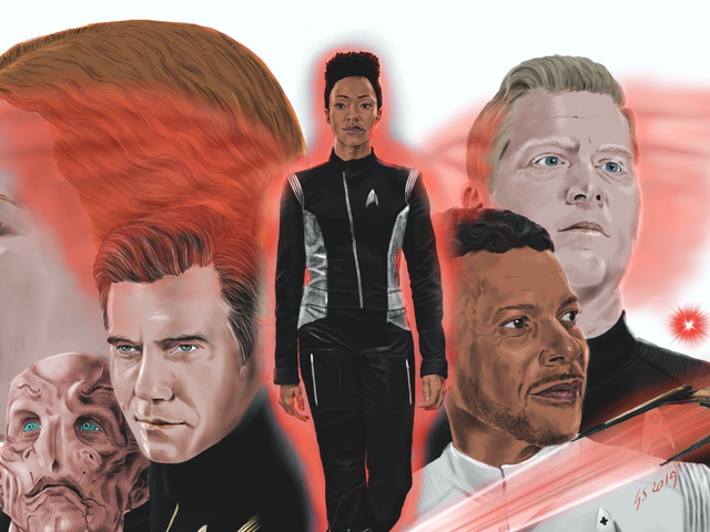 <i>Star Trek: Discovery</i> inspireret denne fan til at producere nogle fantastiske skitser og malerier