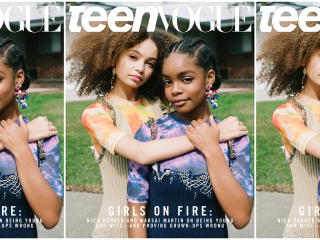 14 Going on Famous: Marsai Martin y Nico Parker Portada Teen Vogue