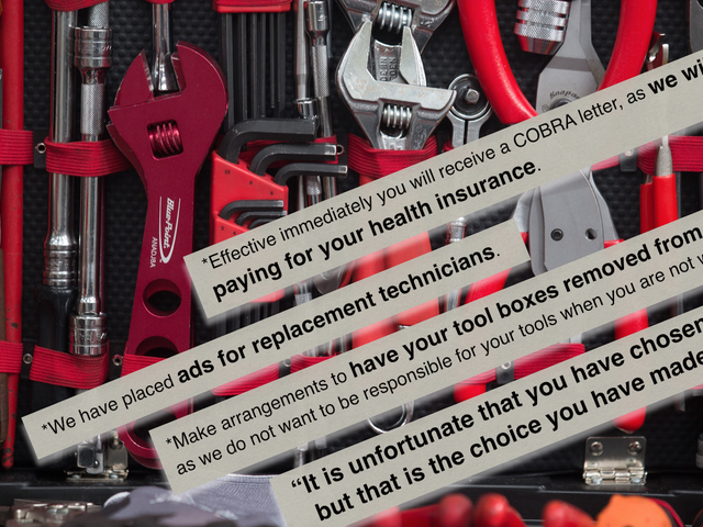 Striking Mechanics Say Dealership Left Their Tools Out To Rust