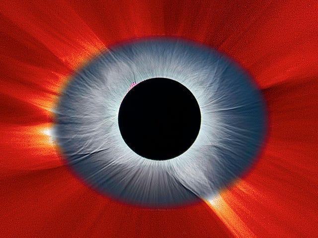 La impresionante imagen de Eclipse Solar se ve como el ojo de nuestro sistema solar