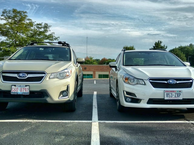 This is exactly how much taller the Crosstrek is than the Impreza
