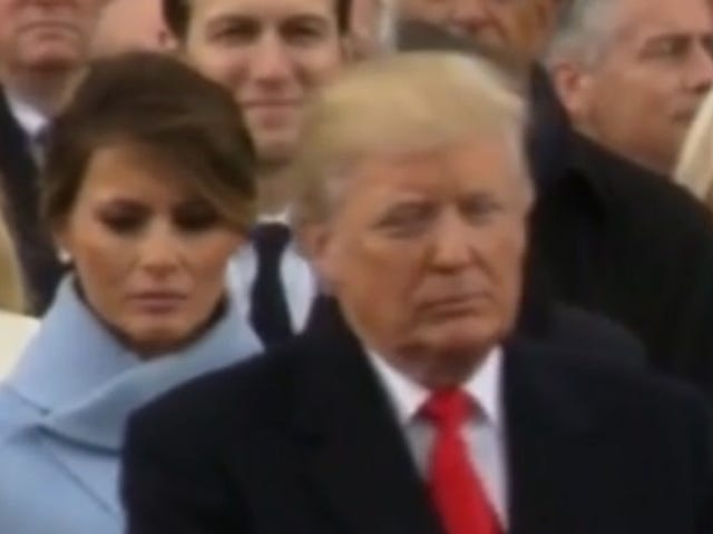 Melania Trump Definitely Loves Her Husband and Is Very Happy to Be Here