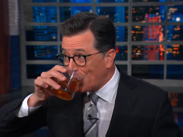 Stephen Colbert swallows hard and addresses boss Les Moonves' #MeToo mess