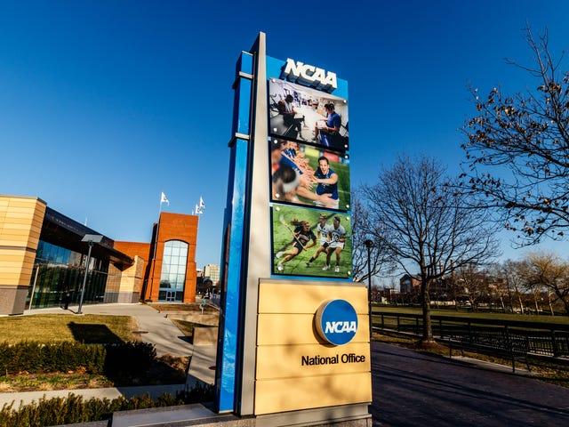 NCAA kastar ett temperament Tantrum efter att Kalifornien godkänner räkningen för att stoppa det från att fortsätta att utnyttja student-idrottare