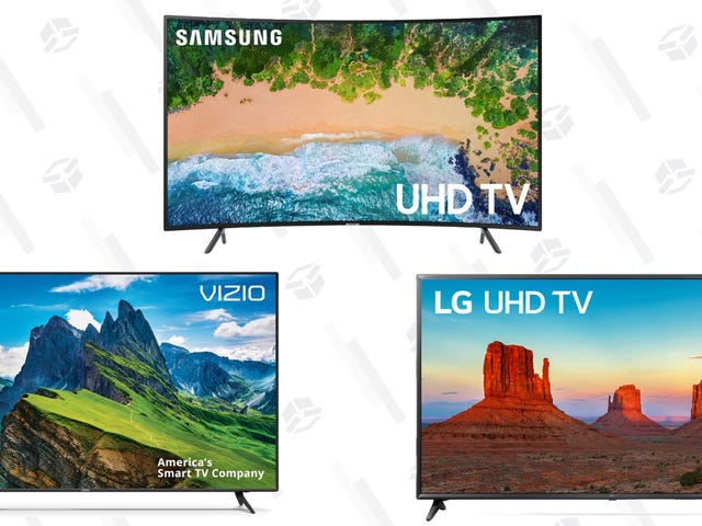 Upgrade to a Big, Honkin' TV In Time For Sunday With a Trio of Deals