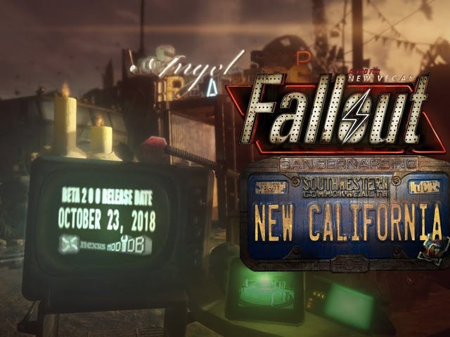 Fallout: New California, a New Vegas mod that's been in development for nine years, will finally com