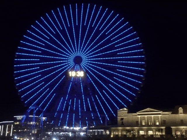 Pikachu illumina una ruota panoramica in Giappone