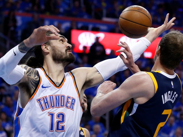 The Thunder Are Being Shady About Steven Adams's Possibly Injured Arm
