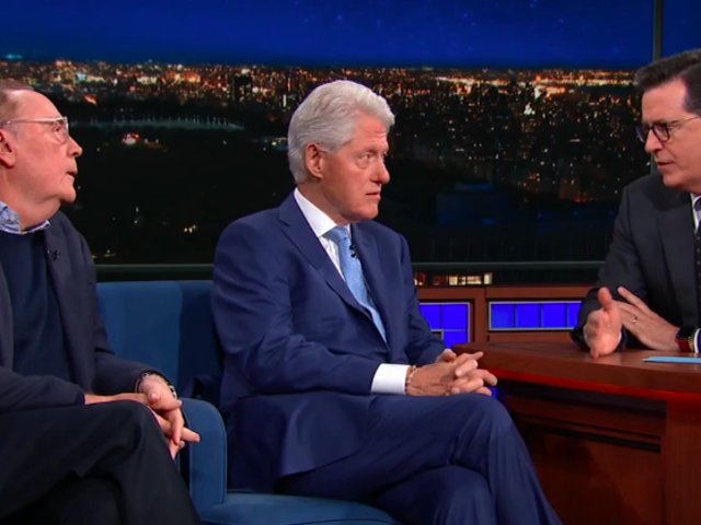 Stephen Colbert politely impedes Bill Clinton's attempt to walk back that Today Show interview