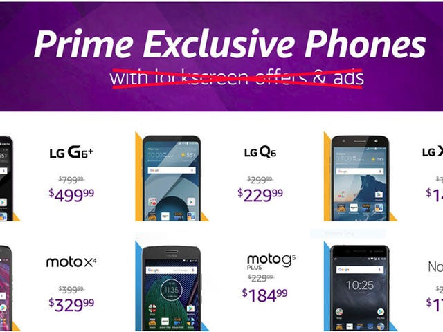 Amazon Is Pulling Those Annoying Lock Screen Ads From Its Discount Prime Exclusive Phones