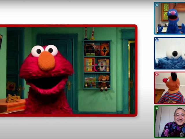 Schauen Sie sich Elmos Pandemie-Playdate-Special an
