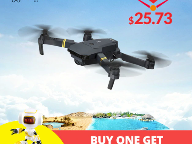 Eachine E58 WIFI FPV With Wide Angle HD Camera High Hold Mode Foldable Arm RC Quadcopter Drone $25.73