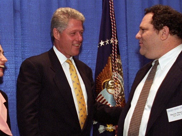 Clinton Presidential Library ReleasesNew Photos of Harvey Weinstein From the 1990s