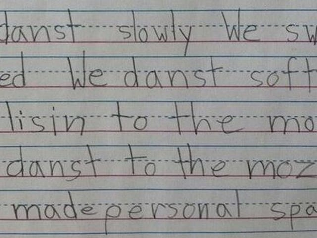 First Grader Writes Adorable Poem About Personal Space