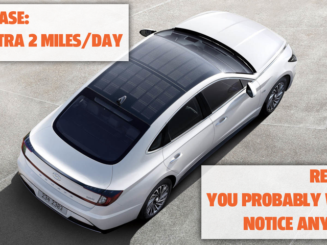 Let's Be Realistic About The Hyundai Sonata Hybrid's Solar Roof