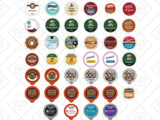 Kick Off Your Mornings With 40 Different K-Cups For $20