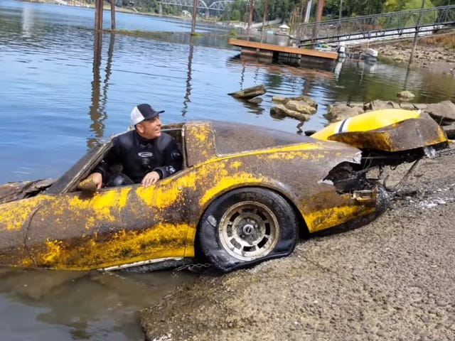 This Corvette Spent Over 20 Years At The Bottom Of A River