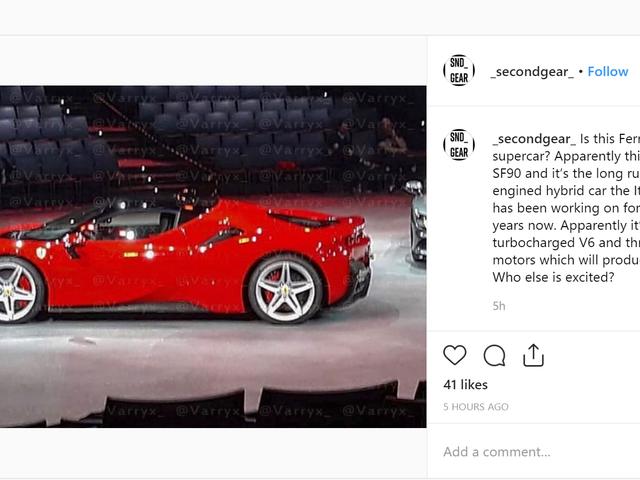Dit is Ferrari's Next Hybrid Supercar voordat je wordt verondersteld het te zien
