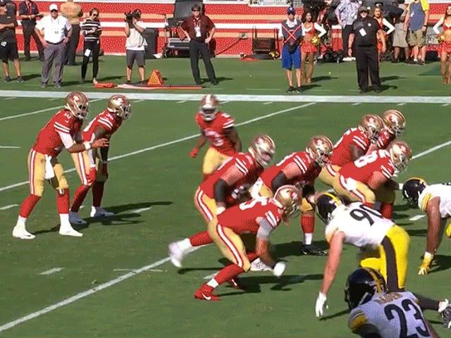 Nonostante i loro migliori sforzi, i 49er erano incapaci di battersi