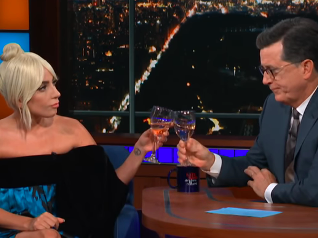 """<a href=""""https://news.avclub.com/lady-gaga-toasts-to-the-courage-of-dr-christine-blasey-1829543868"""" data-id="""""""" onClick=""""window.ga('send', 'event', 'Permalink page click', 'Permalink page click - post header', 'standard');"""">Lady Gaga toasts to the courage of Dr. Christine Blasey Ford on <i>The Late Show</i></a>"""