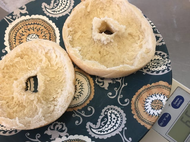 How Many Calories Are in a Scooped-Out Bagel?
