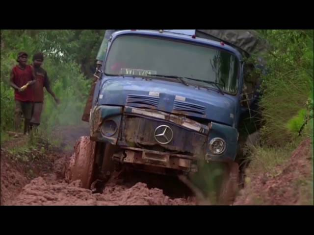 Truck offroading in Madagascar to calm background music