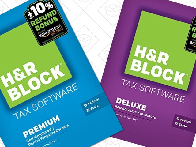 Procrastinators Rejoice: Amazon's Running One Last Deal on H&R Block Tax Software, Today Only