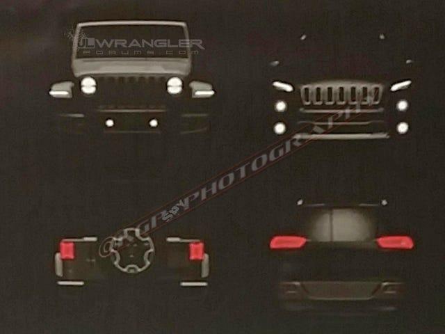 Her er det beste utseende ennå i ansiktet av den neste Jeep Wrangler
