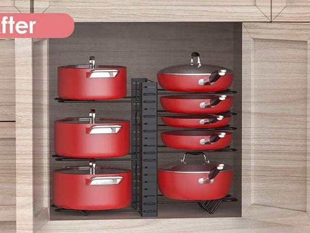 Organize All the New Cookware You Get For Christmas With This $16 Cabinet Rack