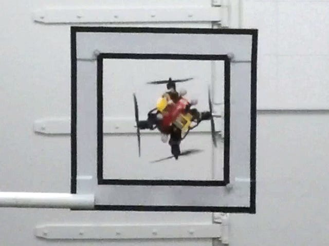 Watch This Flying Drone Shrink Like Ant-Man to Squeeze Through Small Spaces