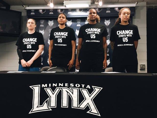 Policjanci z Minneapolis odejdą z pracy w grze WNBA Po tym, jak gracze Lynx wypowiedzą się przeciwko przemocy