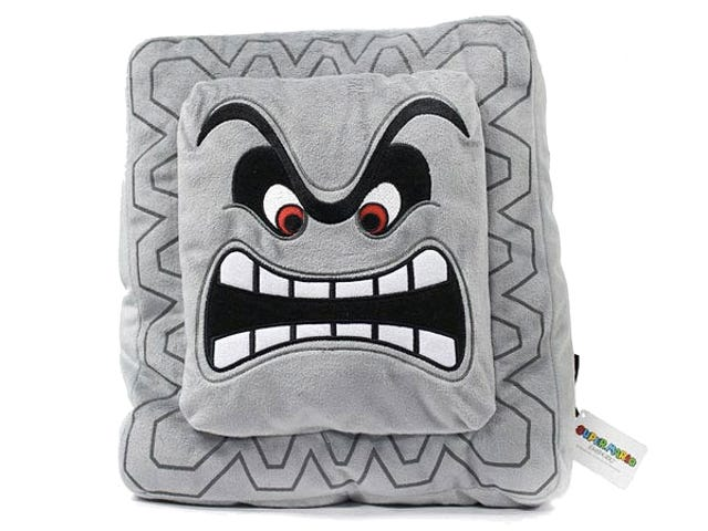 A Super Mario Bros. Plush Thwomp Is Perfect For Pillow Fights