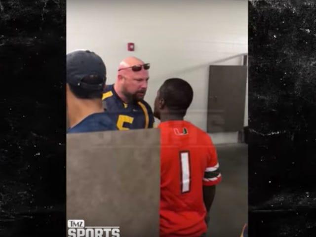 Fã de Miami soca fã de West Virginia depois de discutir sobre quem vai fazer xixi primeiro