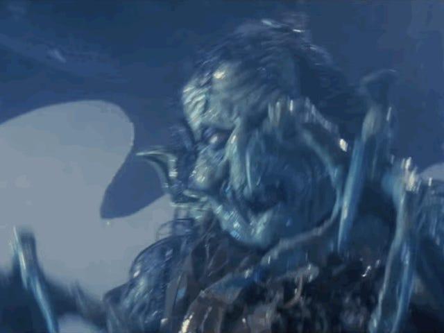 Giant Monster Dunks On Poor Sucker; Poor Sucker Laughs